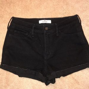 Hollister High-Rise Black Jean Shorts
